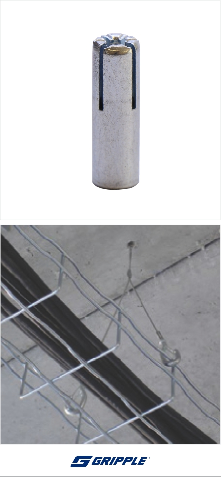 Gripple-drop-in-anchor-wire-supension
